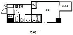 エスプレイス神戸ウエストモンターニュ[2階]の間取り