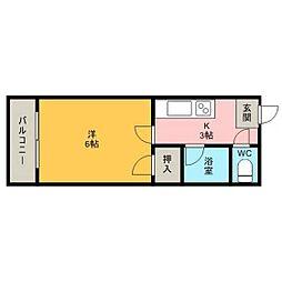 長崎県長崎市葉山1丁目の賃貸アパートの間取り