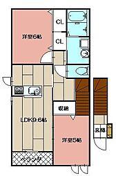 リヴァーハイムII[2階]の間取り
