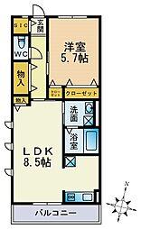 パークハイム横浜鶴見[204号室]の間取り
