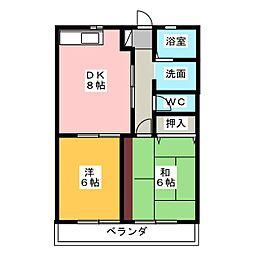 Befit・K[2階]の間取り