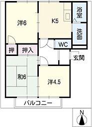 エクセルカーサ[2階]の間取り