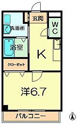 セレーノ東生駒A[3階]の間取り