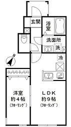 JR山手線 恵比寿駅 徒歩17分の賃貸アパート 1階1LDKの間取り
