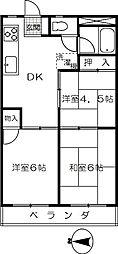 渋谷ハイツ[302号室]の間取り