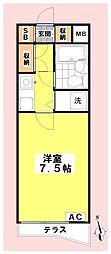 ガーデンハウス東高円寺[106号室]の間取り