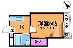ラフォーレ調布[1階]の間取り