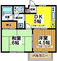 東京都杉並区成田西3丁目の賃貸アパートの間取り