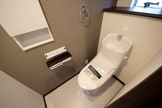 トイレに壁面収...