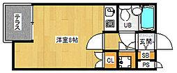 京都府京都市中京区橋本町の賃貸マンションの間取り