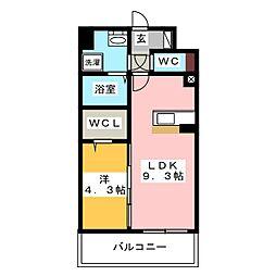 modern palazzo HAKATA riva II[5階]の間取り