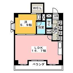 シャトーヨサミ[3階]の間取り