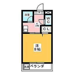 キャッスル・ミニ・M&M[3階]の間取り