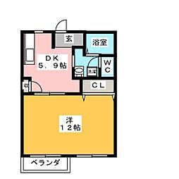 アルカディア A棟[2階]の間取り