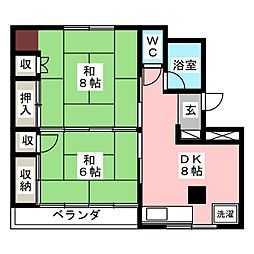 梅田ハイツ[2階]の間取り