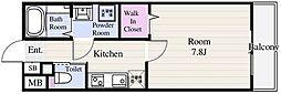 東京メトロ東西線 葛西駅 徒歩14分の賃貸マンション 6階1Kの間取り