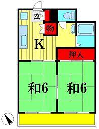 サンハウス青木[3階]の間取り
