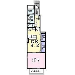 辻ヶ花 弐番館[1階]の間取り
