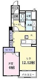 フラワーコート[1階]の間取り