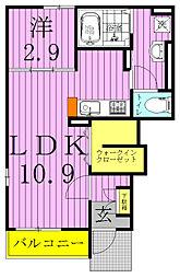 Nパークハウス B[102号室]の間取り
