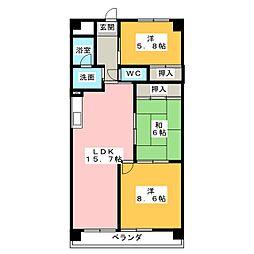 グランドステージNAKANO[6階]の間取り