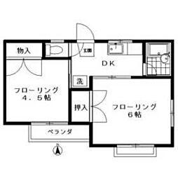 メゾンTAKA D棟[201号室]の間取り