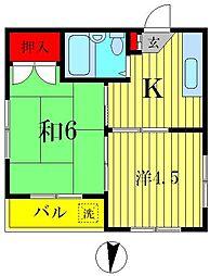 セントパーク東和[3階]の間取り