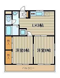 東京都練馬区西大泉1の賃貸マンションの間取り