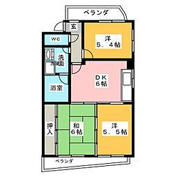 ピアネーズ喜多山[3階]の間取り