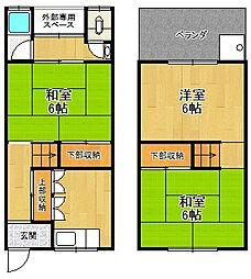 [一戸建] 兵庫県尼崎市上ノ島町1丁目 の賃貸【/】の間取り