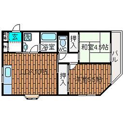 ファゼンダ宮野[2階]の間取り