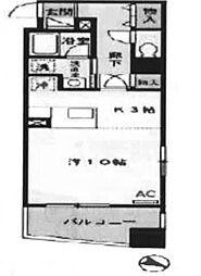 東京都中央区日本橋浜町1丁目の賃貸マンションの間取り