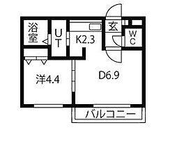 ルーエ北円山[3階]の間取り