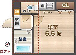 東京都杉並区高円寺南3丁目の賃貸アパートの間取り