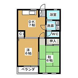 エールI[2階]の間取り
