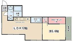 サンシャインハイツカジワラ[105号室]の間取り