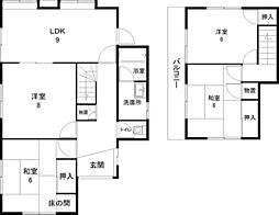 [一戸建] 茨城県つくば市東光台2丁目 の賃貸【/】の間取り