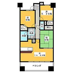 ライオンズマンション金山ニューシティー[3階]の間取り