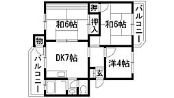 安倉団地(住宅供給公社賃貸物件)[2階]の間取り
