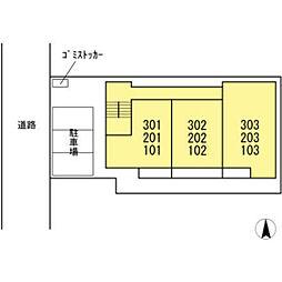 仮)D-room殿町[303号室]の外観