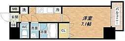 LAV心斎橋WEST[13階]の間取り