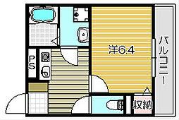 パステル神山[201号室]の間取り