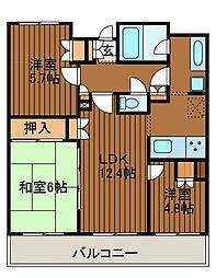 クルール新百合ヶ丘N[2階]の間取り