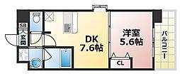 兵庫県神戸市灘区烏帽子町1丁目の賃貸マンションの間取り
