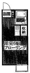 柿の木ハイツ[103号室]の間取り