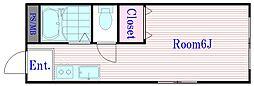 第8川口荘[1階]の間取り