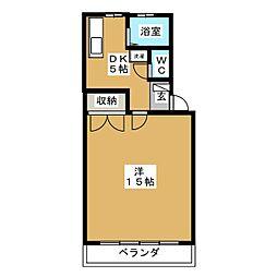 ユニオン2A[1階]の間取り