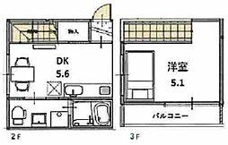 プライベートレジデンス御所南 2階1DKの間取り