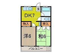 藤ハイツ[2階]の間取り