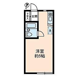 ソレイユ経堂[0208号室]の間取り